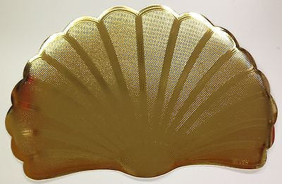 SET OF 6 MYLAR GOLD PLACEMATS, METALLIC LOOK
