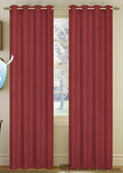 Set of 2 York Blackout Thermal Lined Grommet Top Curtain Drapery Panels 84 Long
