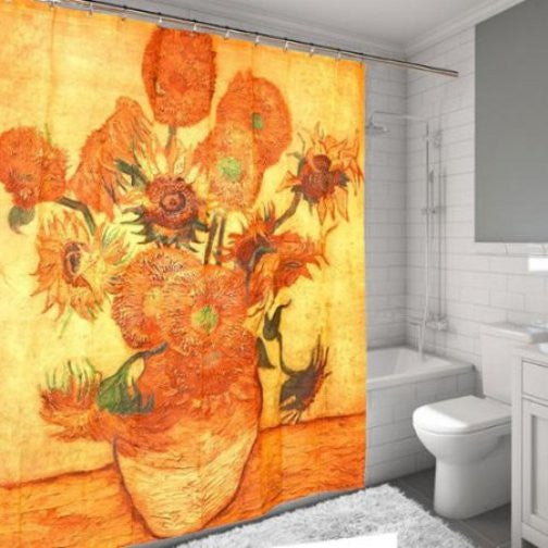 Sunflowers 1888 Fabric Shower Curtain by Vincent van Gogh