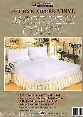 VINYL WATERPROOF ZIPPERED MATTRESS COVER