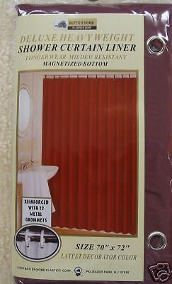 VINYL SHOWER LINER WITH MAGNETS AND GROMMETS BURGUNDY