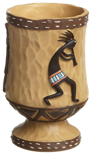 Avanti Linens Kokopelli Gold  Shower Curtain and Resin Bath Accessory Set