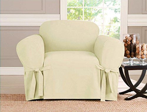 Micro-suede Slipcover, Furniture Covers, BEIGE