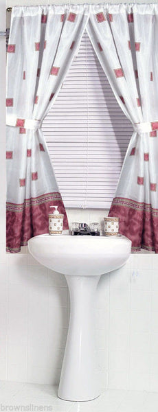 WINDSOR FABRIC WINDOW CURTAIN WITH GREEK KEY BORDER