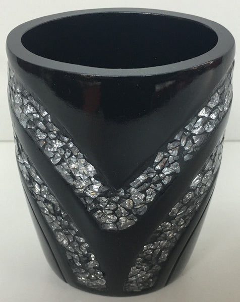 POPULAR BATH SINATRA RESIN TUMBLER, BLACK