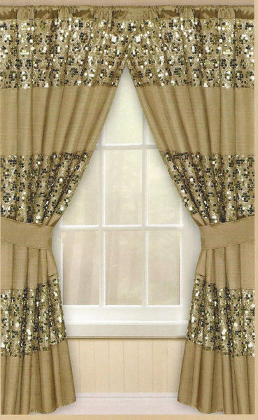 Popular Bath Sinatra Champagne Gold Window Curtain