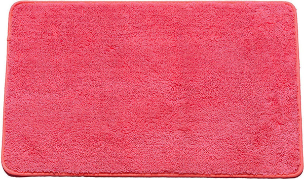 "HAILEY PLUSH BATHROOM AREA RUG, 18"" X 30"", NON SKID BACK, FUSCHIA"