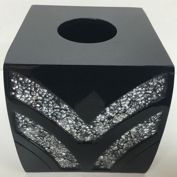 POPULAR BATH SINATRA RESIN TISSUE BOX, BLACK