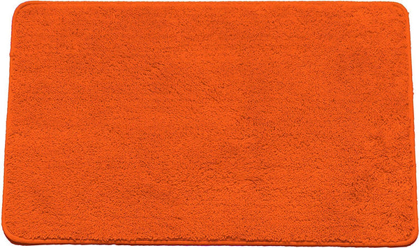 "HAILEY PLUSH BATHROOM AREA RUG, 18"" X 30"", NON SKID BACK, ORANGE"