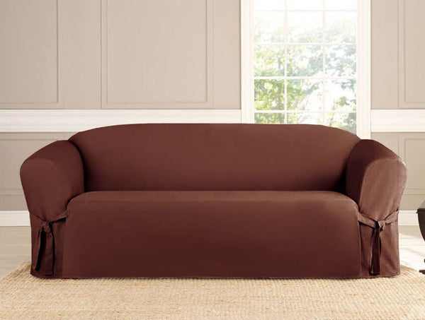 Micro-suede Slipcover, Furniture Covers, BROWN