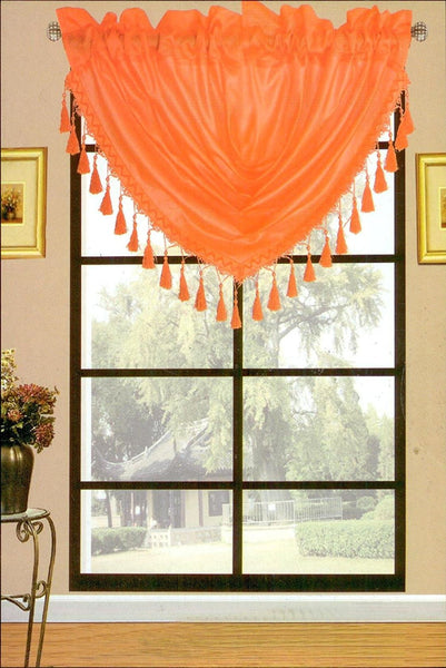 SET OF 2 TERRI FAUX SILK CURTAIN PANELS WITH ROD POCKET TOP