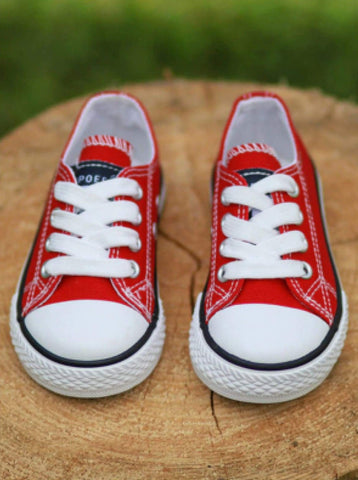 Girls Casual Low Top Canvas Sneakers By Liv and Mia