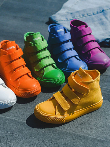 Girls Be Bright As a Rainbow High Top Sneakers By Liv and Mia