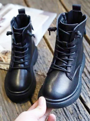 Mia Belle Girls Combat Boots with Back Zipper Closure By Liv and Mia