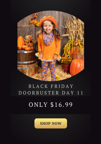 Mia Belle Girls Let's Carve Out Some Fun Hi-Lo Tunic with Pumpkin Leggings and Scarf Set