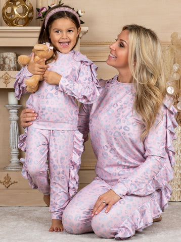 Mia Belle Girls Mommy & Me 'I Love You More Everyday' Loungewear Set