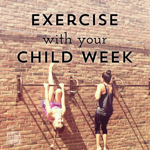Exercise with Your Child Week - Mia Belle Girls Calendar August 2021