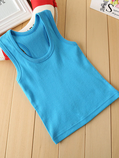 Girls Colorful Thick Strap Cotton Tank Top