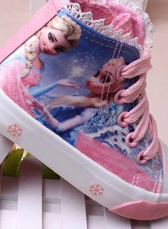 Girls Colorful Frozen Inspired Elsa and Anna Sneakers By Liv and Mia