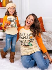 "Mommy and Me ""Just a Mama or Girl Who Loves Fall"" Top"