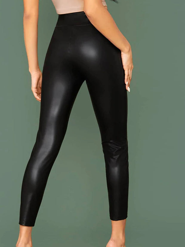 Women's Leather Leggings
