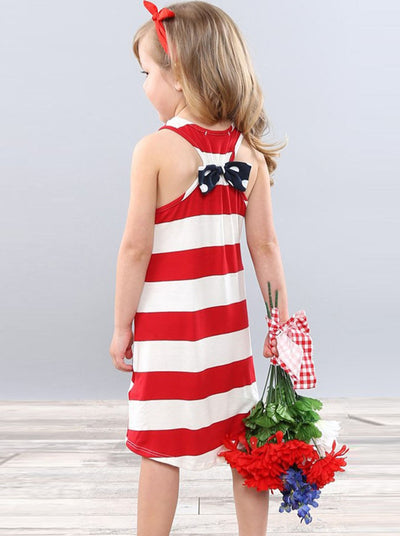 Mommy and Me 4th of July Striped Dress