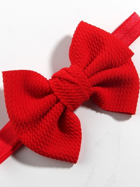 Baby Little Bow Headband red