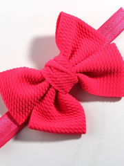 Baby Little Bow Headband hot pink