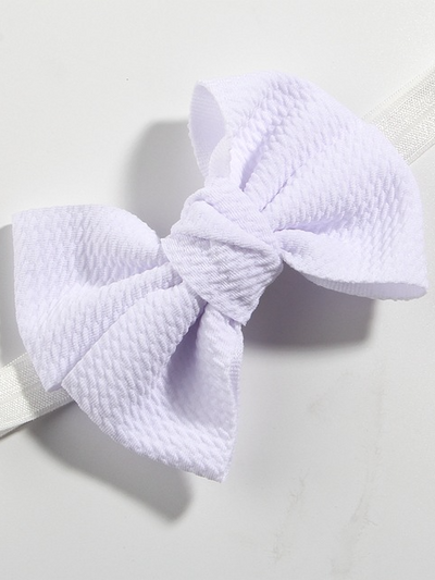 Baby Little Bow Headband white