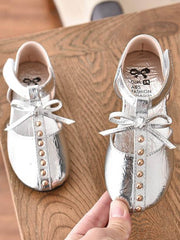 Girls  Metallic Studded Casual Flats