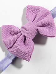 Baby Little Bow Headband lilac