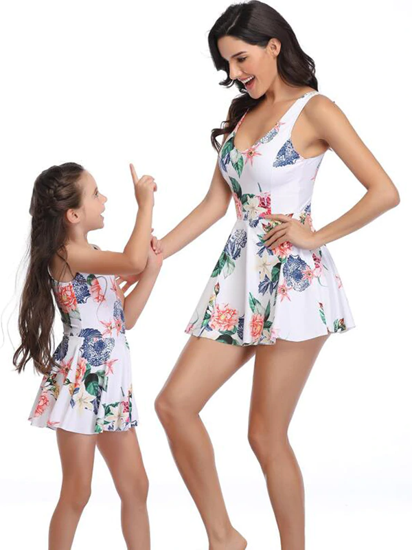 Mommy and Me Matchy-matchy Skirted One Piece Swimsuit