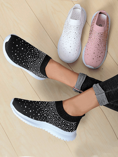 Women's  Sporty Bedazzled Sneakers