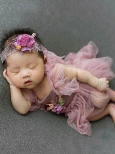 Baby Photoshoot tutu onesie with headpiece