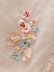 Baby Spring dress features tulle layers with cute embroidered flowers