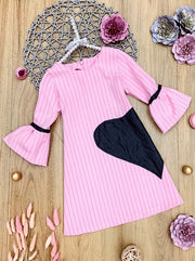 Girls Feelin' Love Sick Long Bell Sleeve Dress