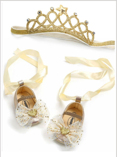 Baby Little Princess Crown Headband and Shoes Set