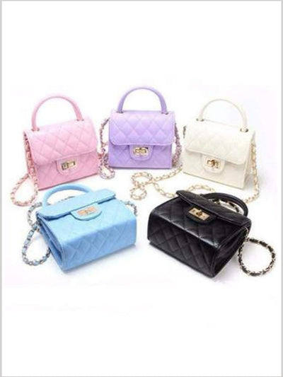 Girls Quilted Chanel Inspired Fashion Chain Purse