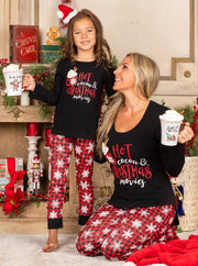 "Mommy and Me ""Hot Cocoa and Christmas Movies"" Pajama Set"
