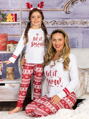 "Mommy and Me ""Let It Snow"" Pajama Set"