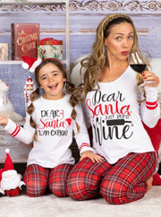 "Mommy and Me ""Dear Santa"" Pajama Set"