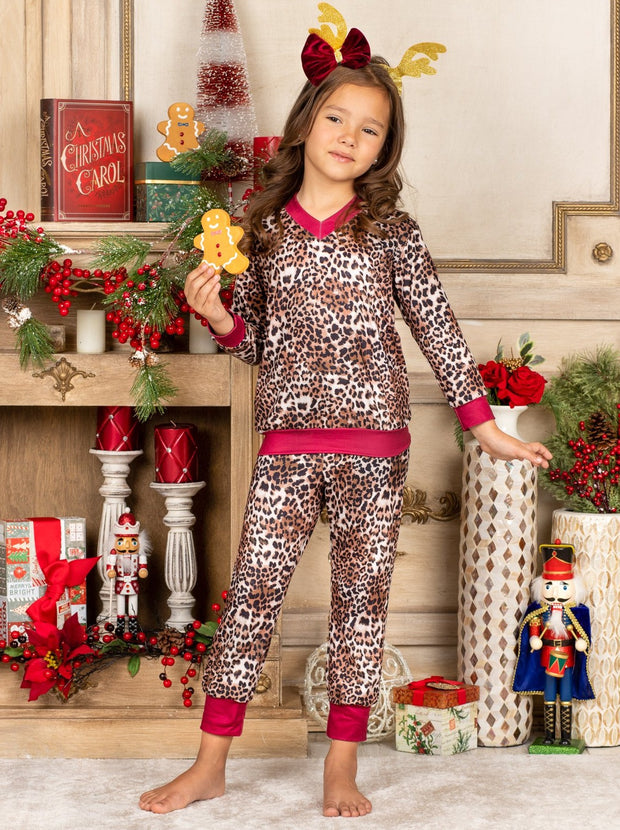 Mommy and Me Long Sleeve Leopard Loungewear Set