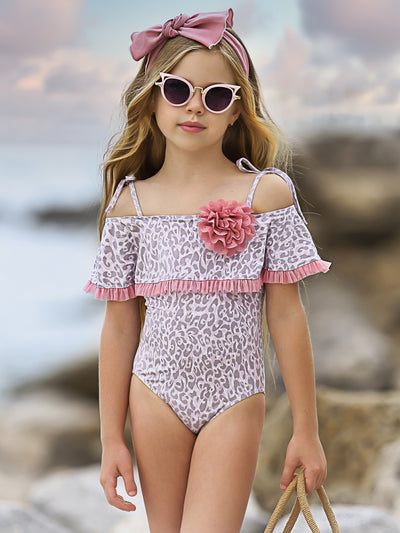 Girls Swim in the Sea One Piece Swimsuit