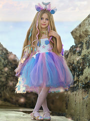 Girls Mermaid Unicorn Costume