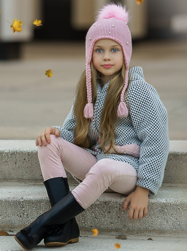 Girls Black Bow Front Boots by Liv & Mia