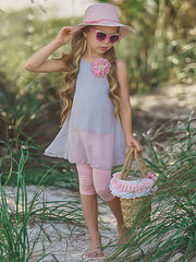 Girls Swing Tunic and Capri Leggings Set