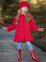 Girls Military Style Lace Ruffle Trimmed Boots by Liv & Mia