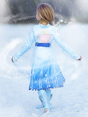 Girls Newest Movie Magical Frozen Inspired Elsa Sparkle Halloween Costume