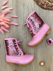 Girls Glitter Duck Boots By Liv and Mia