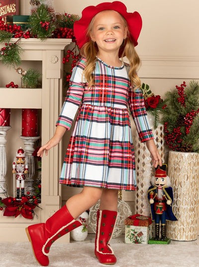 Girls Holiday Plaid Dress